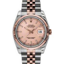 Rolex Datejust 36 116231-GLDSFO Champagne Index Fluted Rose...