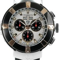 Charriol Celtica Mother of Pearl Dial Chronograph Black Rubber...