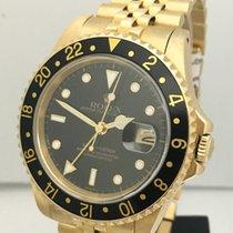 Rolex GMT Master 18K Gold Mens 40mm Watch