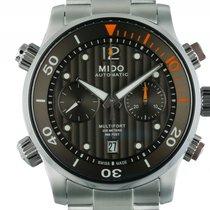 Mido Multifort Chronograph Stahl Automatik Armband Stahl 44mm