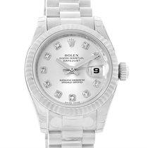 Rolex President Datejust 18k White Gold Diamond Watch 179179...
