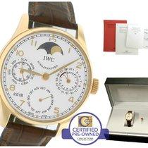 IWC Portuguese Perpetual Calendar 502213 18K Rose Gold Silver