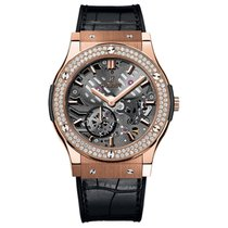 Hublot Classic Fusion 42mm Hand Wind 18K Rose Gold Mens Watch...