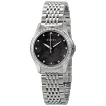 Gucci 126 G-Timeless Black Mother of Pearl Diamond Ladies Watch