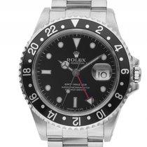 Rolex GMT Master schwarz Stahl Automatik Armband Oyster...