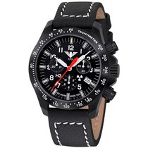 KHS Uhren Herrenuhr Black Platoon Chronograph KHS.BPCLDR.LBB