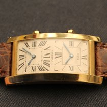 Cartier DUAL TIME TANK OVERSIZED YELLOW GOLD 18KT ORO GIALLO GMT