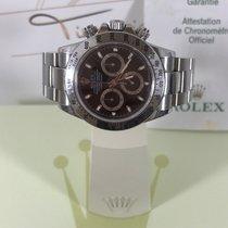 Rolex Daytona Stahl Schwarzes Blatt 116520 Rehautgravur m.Box...