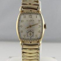 Bulova 10k Rolled Gold Plate Bezel 17 Jewel Stainless Steel...