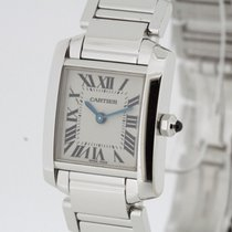 Cartier Tank Francaise 18K White Gold Retail 21000 Swiss...