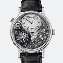 Breguet [NEW] Tradition GMT Manual Silver Skeleton Dial White...