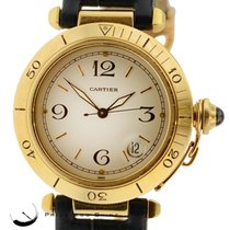 Cartier Pasha Solid 18k Yellow Gold Automatic 38mm Gents Watch...