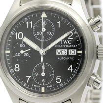 IWC Polished Iwc Flieger Chronograph Steel Automatic Watch...