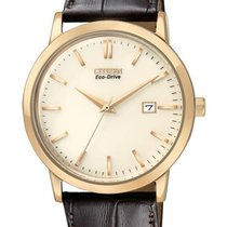 Citizen Eco-Drive Mens Strap Watch - Champagne Dial - Rose...