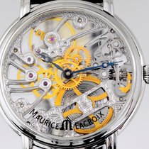 Maurice Lacroix Masterpiece Squelette Skeleton Hand Wind Top...