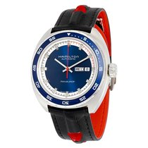 Hamilton Pan Europ Day-Date Navy Blue Dial Automatic Men's...