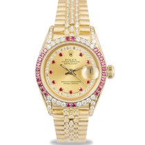 Rolex Datejust President Ladies 18k Diamond/Ruby Set, Ref: 69038