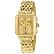 Michele Deco Gold Metallic Dial Gold-plated Stainless Steel...