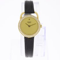 Hermès Ladies Watch 18K Gold with Diamonds