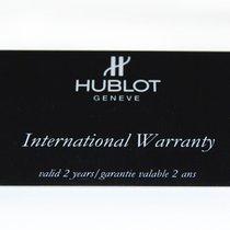 Hublot Blanko-Garantiekarte, Zertifikat