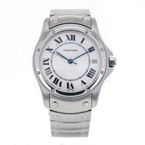 Cartier Santos Ronde Stainless Steel Automatic White Dial...