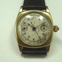Movado Single button Chronograph w/pulsation dial rare 18k...