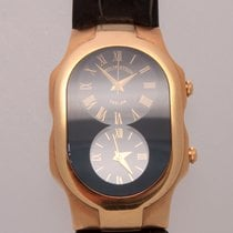 Philip Stein Man's Large Teslar Solid 18k Yellow G