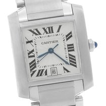 Cartier Tank Francaise Full-Size Automatic 2302 Stainless Silver
