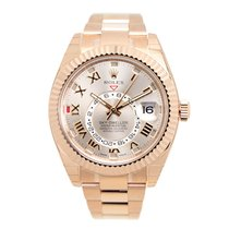 Rolex Sky-dweller 18k Rose Gold Silver Automatic 326935PK