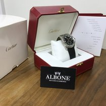 Cartier Calibre Automatic Gents, 2010, Black Leather Strap