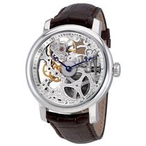 Aerowatch Renaissance Big Skeleton Hand Wound Leather Watch