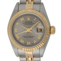 Rolex - Ladies Datejust : 79173 rhodium (dark silver) dial on...