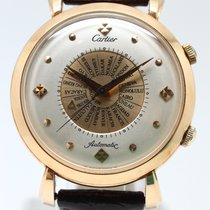 Cartier Memovox World Time 18K Rose Gold Automatic