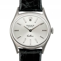 Rolex Cellini 18kt. Weißgold Handaufzug Armband Leder 26mm...