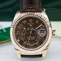 Rolex 326135 Sky Dweller Chocolate Dial 18k Rose Gold /...