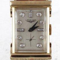 Longines 1950's Vintage Longines Silver Diamond Dial