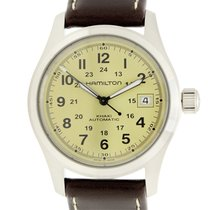 Hamilton Khahi Field Officer Stainless Steel Yellow Automatic...