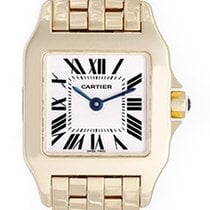 Cartier Ladies 18k Yellow Gold Santos Demoiselle Watch W25063X9
