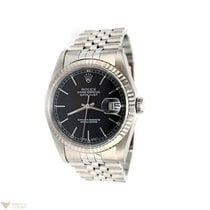 Rolex Datejust Stainless Steel Black Dial Men's Watch