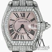 Cartier Pink Ladies Cartier Roadster W62016v3 Stainless Steel...