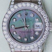 Rolex President Ladies 18k White Gold Mother Of Pearl Diamond...