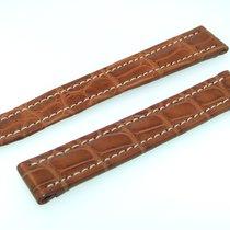 百年靈 (Breitling) Band 15mm Croco Brown Marron Strap B15-17
