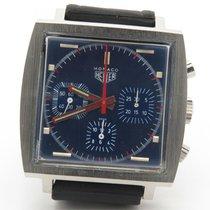 Heuer Rare Vintage Monaco Steve Mcqueen 73633 Blue Dial...