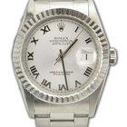 Rolex Datejust 36mm/Oyster Bracelet/White Gold Fluted Bezel/16234