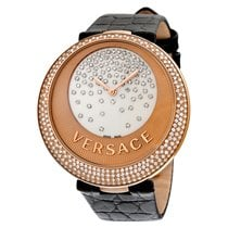 Versace Perpetuelle Mother Of Pearl Dial Black Alligator...