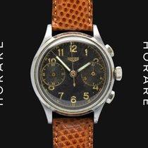 Heuer Chronograph Military Dial, Valjoux 23 - 1940s