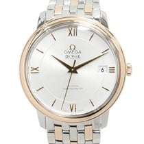 Omega De Ville 18k Rose Gold And Steel Silver Automatic...