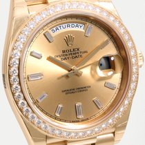 Rolex 40mm Day-Date 18k YG Factory Diamond Dial & Bezel ...