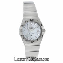 Omega Constellation 123.10.24.60.55.002 MOP Diamond 24MM Quartz