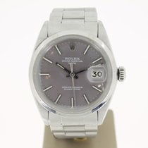 Rolex Date 34mm Steel GREYDIAL (BOX1980) MINT